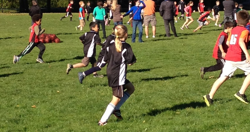The Grade 4/5 Soccer Team in Action!
