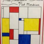 Div 1- Piet Mondrian Line Art
