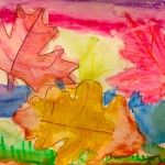 Div 2 – Water Color Leaves